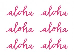 Aloha Paper Decoration