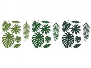 Aloha Paper Decoration Leaves Mix