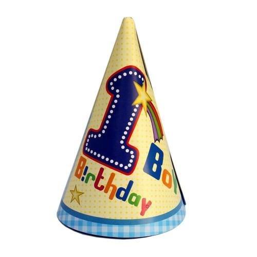 1st Birthday Boy Party Hats