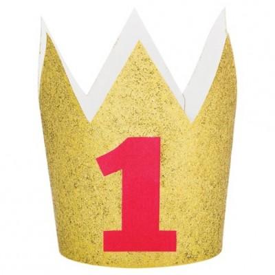 Gold 1st Birthday Crown