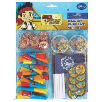 Jake and The Neverland Birthday Party Mega Mix Value Pack - 48 pcs