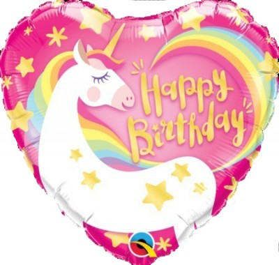 Happy Birthday Magical Unicorn Balloon