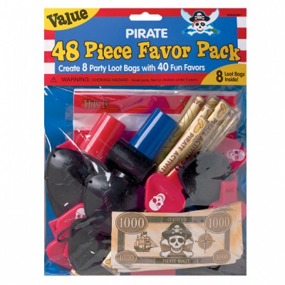 Pirate favor pack - 48 pcs