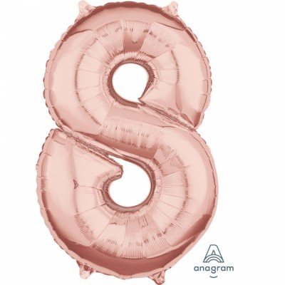 Rose Gold Number 8 Balloon