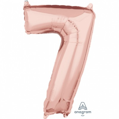 Rose Gold Number 7 Balloon