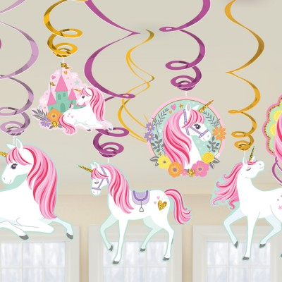 Magical Unicorn Swirl Decoration