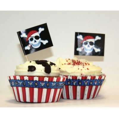 Pirate Cupcake decoration set - 24 pcs