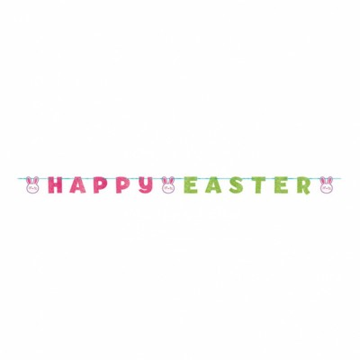 Happy Easter Glitter Letter Ribbon Banners