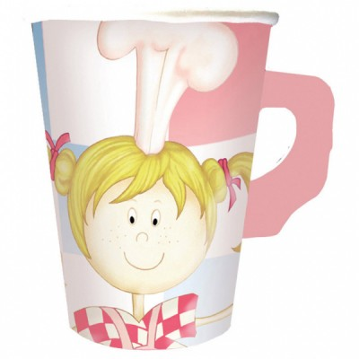 Little Cooks Birthday Party Cups with Handle