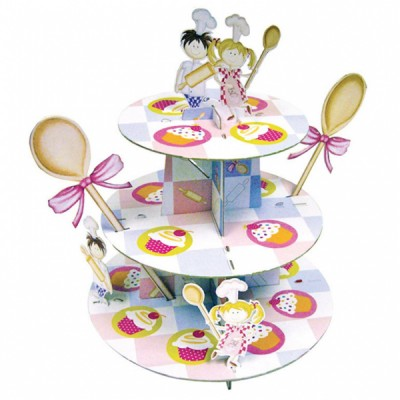 Little Cooks Birthday Party Cupcake Stand