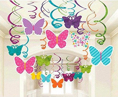 Butterfly Swirl Decorations
