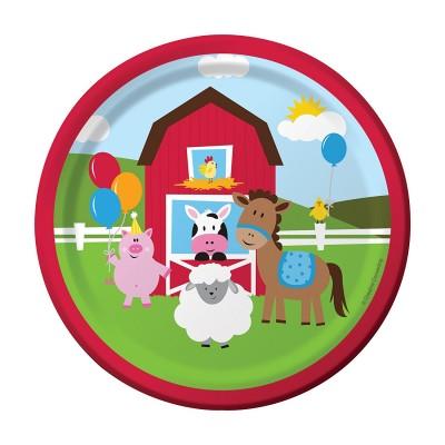 Farmhouse Birthday Party plates