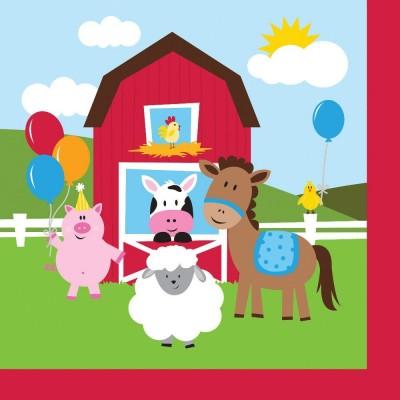 Farmhouse Birthday Party Napkins