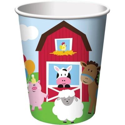 Farmhouse Birthday Party Cups