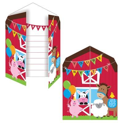 Farmhouse Birthday Party invitations