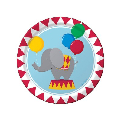 Circus Time Birthday Party  Plates