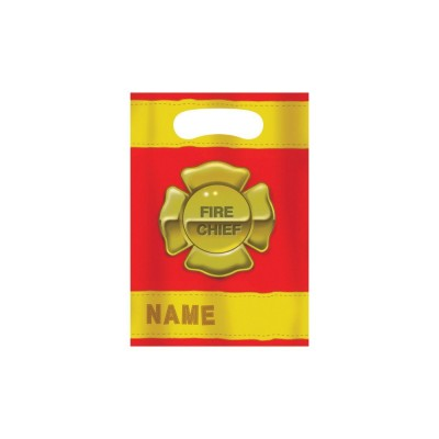 Fire Fighter Birthday Party Giveaways Bags