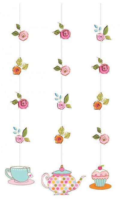 Tea Time Party Hanging Cutouts