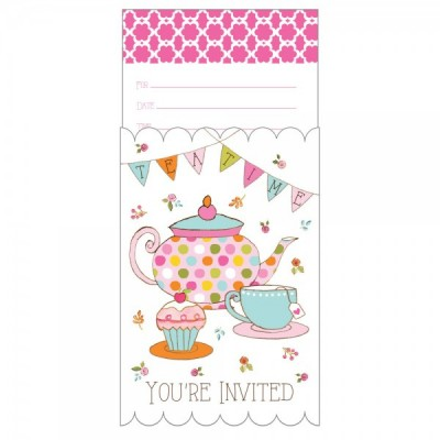 Tea Time Party Popup Invitations