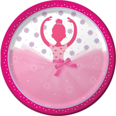 Ballerina Birthday Party Plates