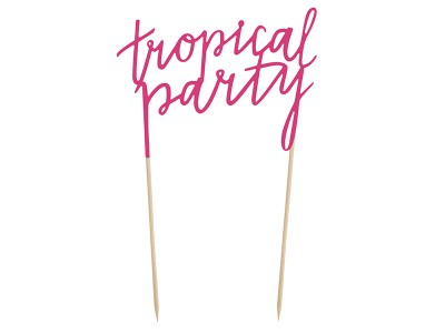 Aloha Tropical Party Cake Topper