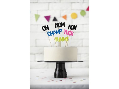 Monsters Cake Topper Speech Bubbles