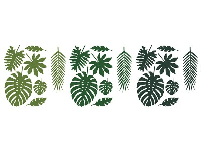 Aloha Paper Decoration Leaves Mix