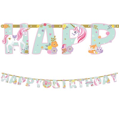 Magical Unicorn Birthday Banner Kit