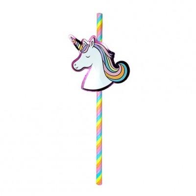 Unicorn Party Paper Straws 20ct