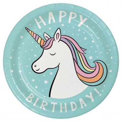 Unicorn Party Plate 10CT